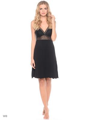 Ночная сорочка Nina von C.. Цвет: черный