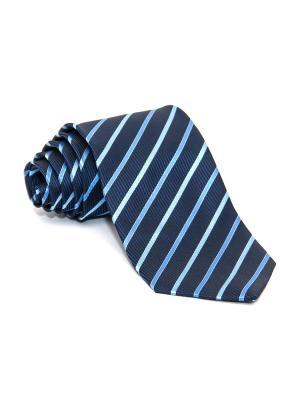 Галстук Churchill accessories. Цвет: черный, темно-синий, синий, голубой, светло-голубой, белый
