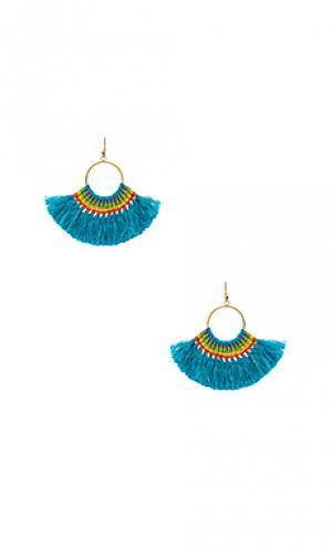Серьги с кисточками Natalie B Jewelry. Цвет: металлический золотой
