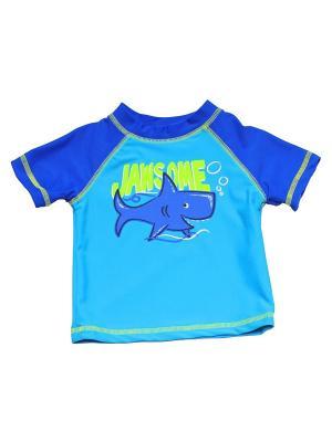 Футболка пляжная Лагуна Little Me. Цвет: синий, голубой