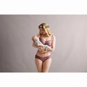 Бюстгальтер для периода кормления, на косточках, кружевной, Fleur ANITA. Цвет: розовый малиновый