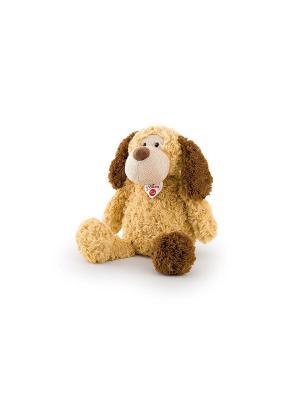 Мягкая игрушка Собачка с трикотажной вставкой, 36 сантиметров TRUDI. Цвет: бежевый