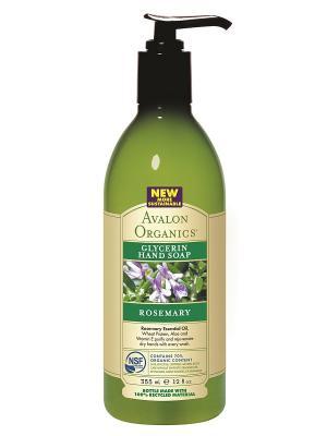 Глицериновое мыло для рук с маслом розмарина, 355 мл Avalon Organics. Цвет: прозрачный