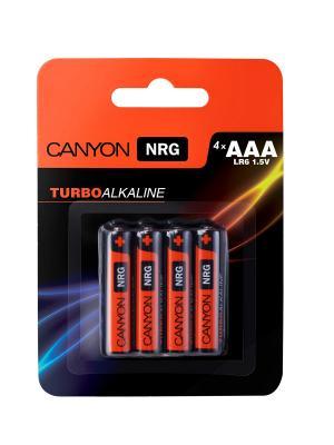 Батарейки, Canyon NRG alkaline battery AAA, 4pcs/pack.. Цвет: черный