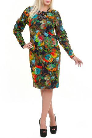 Платье Инсара LESYA. Цвет: мультицвет