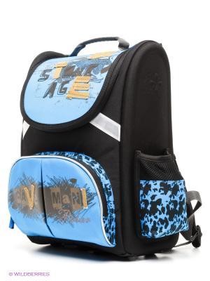 Рюкзак Polar. Цвет: черный, синий