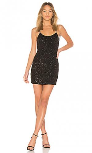 Платье-комбинация nimah NBD. Цвет: черный