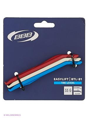 Инструмент BBB tire levers EasyLift. Цвет: красный, белый, синий
