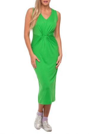 Платье Gloss. Цвет: ярко-зеленый