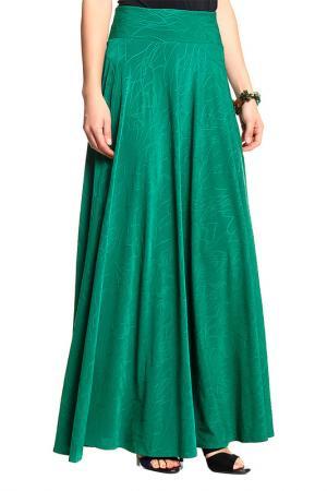 Юбка макси с узорами Alina Assi. Цвет: зеленый
