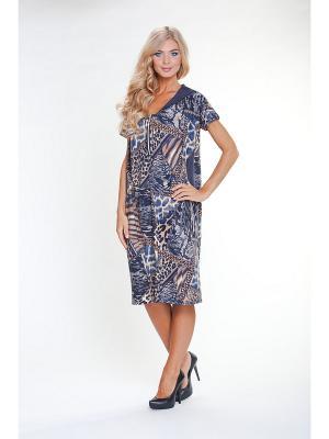 Платье МадаМ Т. Цвет: синий, бежевый