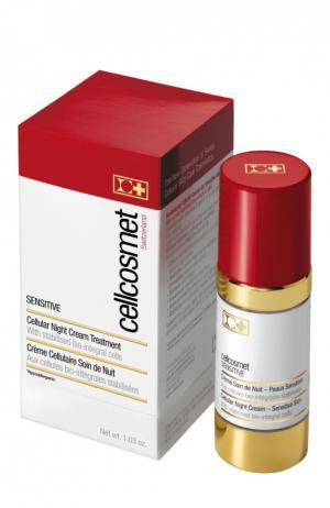 Ночной крем для чувствительной кожи Cellcosmet&Cellmen. Цвет: бесцветный