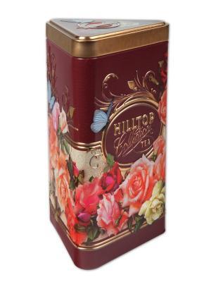 Чай Hilltop треуг.чайница Букет роз Королевское золото 80 гр.. Цвет: черный