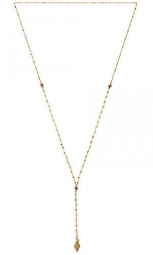 Ожерелье pansy Vanessa Mooney. Цвет: металлический золотой