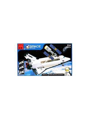 Конструктор пластиковый космический корабль ENLIGHTEN. Цвет: белый, серый