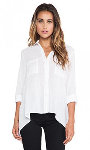 Рубашка асимметричный подол Enza Costa. Цвет: белый