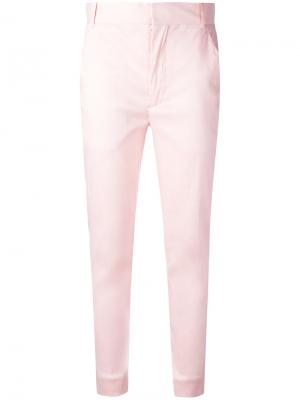 Укороченные брюки Mercure Haider Ackermann. Цвет: розовый и фиолетовый
