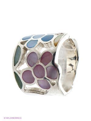 Ювелирное кольцо Infiniti. Цвет: голубой, серебристый, розовый