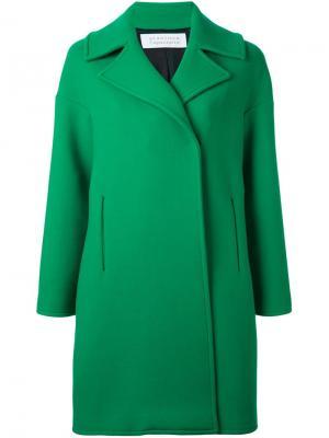 Объемное пальто Gianluca Capannolo. Цвет: зелёный