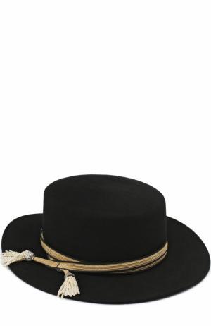 Фетровая шляпа Kiki с тесьмой Maison Michel. Цвет: черный