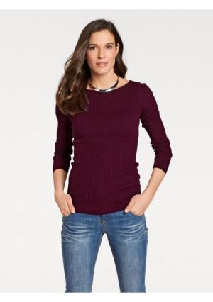 Пуловер PATRIZIA DINI by Heine. Цвет: бордовый, молочно-белый, оливковый, темно-синий