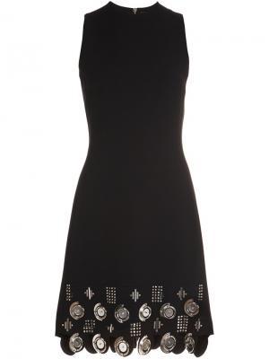 Embellished hem sleeveless dress David Koma. Цвет: чёрный