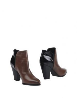 Полусапоги и высокие ботинки LELLA BALDI. Цвет: хаки