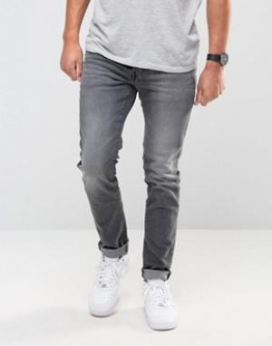 Firetrap Серые облегающие джинсы. Цвет: серый