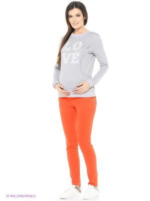 Леггинсы EUROMAMA. Цвет: оранжевый