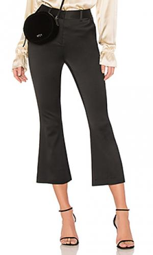 Расклешенные брюки crop FRAME. Цвет: черный