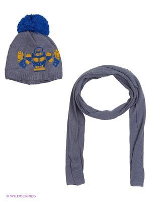 Шапка и шарф Agbo. Цвет: синий