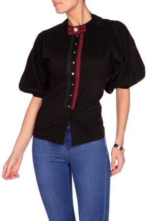 Блуза S&E. Цвет: черный