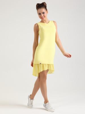 Платье NicClub. Цвет: желтый