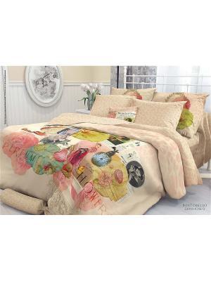 Комплект постельного белья 2,0-сп, VEROSSA,  наволочки 70*70см, Portobello Verossa. Цвет: черный, зеленый, серо-голубой