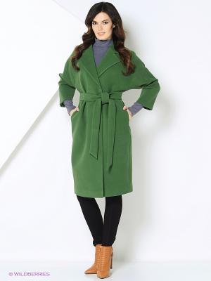 Пальто-oversize RUXARA. Цвет: темно-зеленый