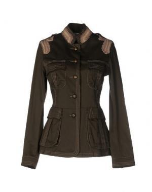 Куртка CRISTINAEFFE. Цвет: зеленый-милитари