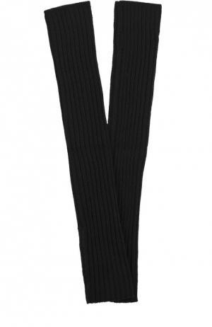 Хлопковые митенки фактурной вязки Rick Owens. Цвет: черный