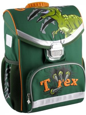 Рюкзак школьный каркасный T-Rex. Kite. Цвет: зеленый, оранжевый, серый