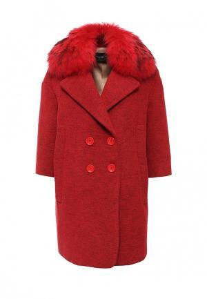 Пальто Atos Lombardini. Цвет: красный