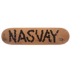 Дека для скейтборда  Team Board 14 Natural 31.5 x 7.8 (19.8 см) Nasvay. Цвет: черный,бежевый