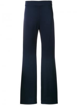 Расклешенные брюки с высокой талией Galvan. Цвет: синий