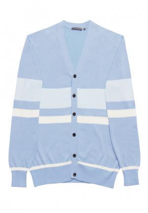 Кардиган Colletto Bianco. Цвет: голубой