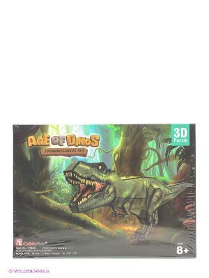 Пазл Тираннозавр CubicFun. Цвет: зеленый