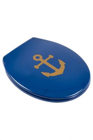 Сиденье для унитаза Maritime MOROSHKA. Цвет: синий, золотой