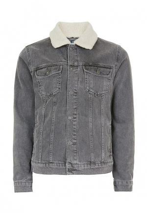 Куртка джинсовая Topman. Цвет: серый