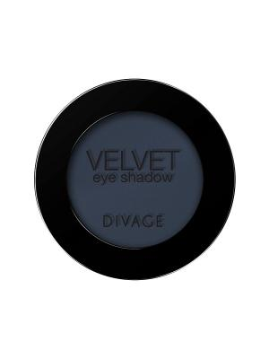 Матовые одноцветные тени для век VELVET тон 7319 DIVAGE. Цвет: темно-синий