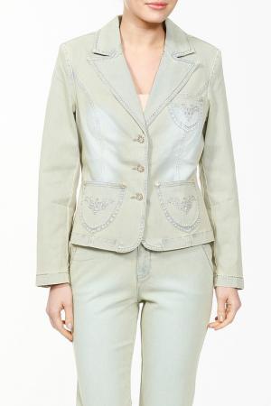 Пиджак LAFEI-NIER. Цвет: светло-оливковый