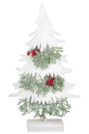 Декоративная елка с ягодами DUE ESSE CHRISTMAS. Цвет: зеленый, белый