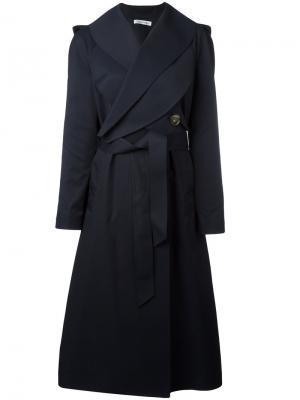 Пальто с поясом JW Anderson. Цвет: синий