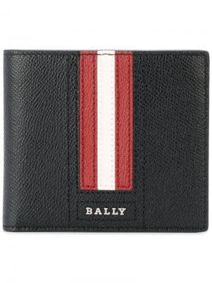 Бумажник с контрастными полосками Bally. Цвет: чёрный